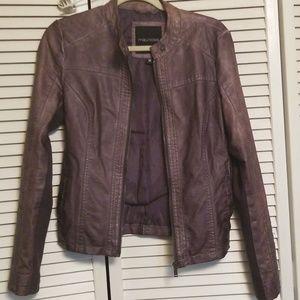Faux leather moto jacket size M